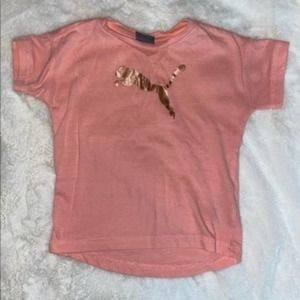 Puma Pink Short Sleeve Toddlers Top Size 3T